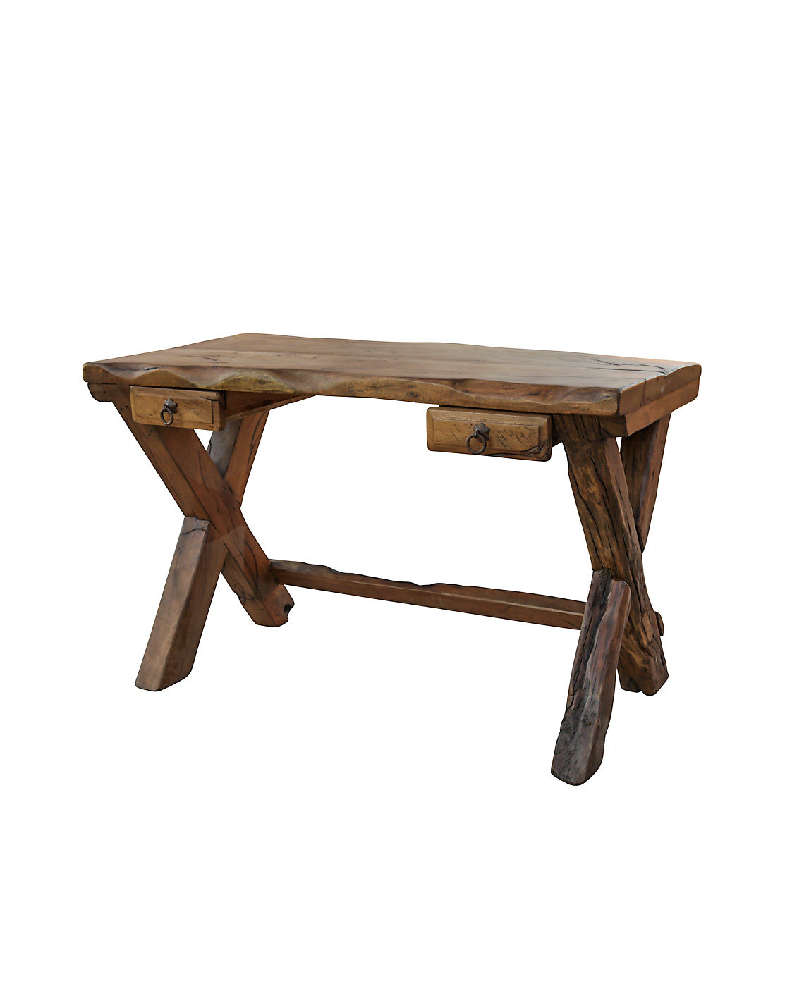 Harbow live edge rustic desk luxury rustic furniture for Rustic furniture