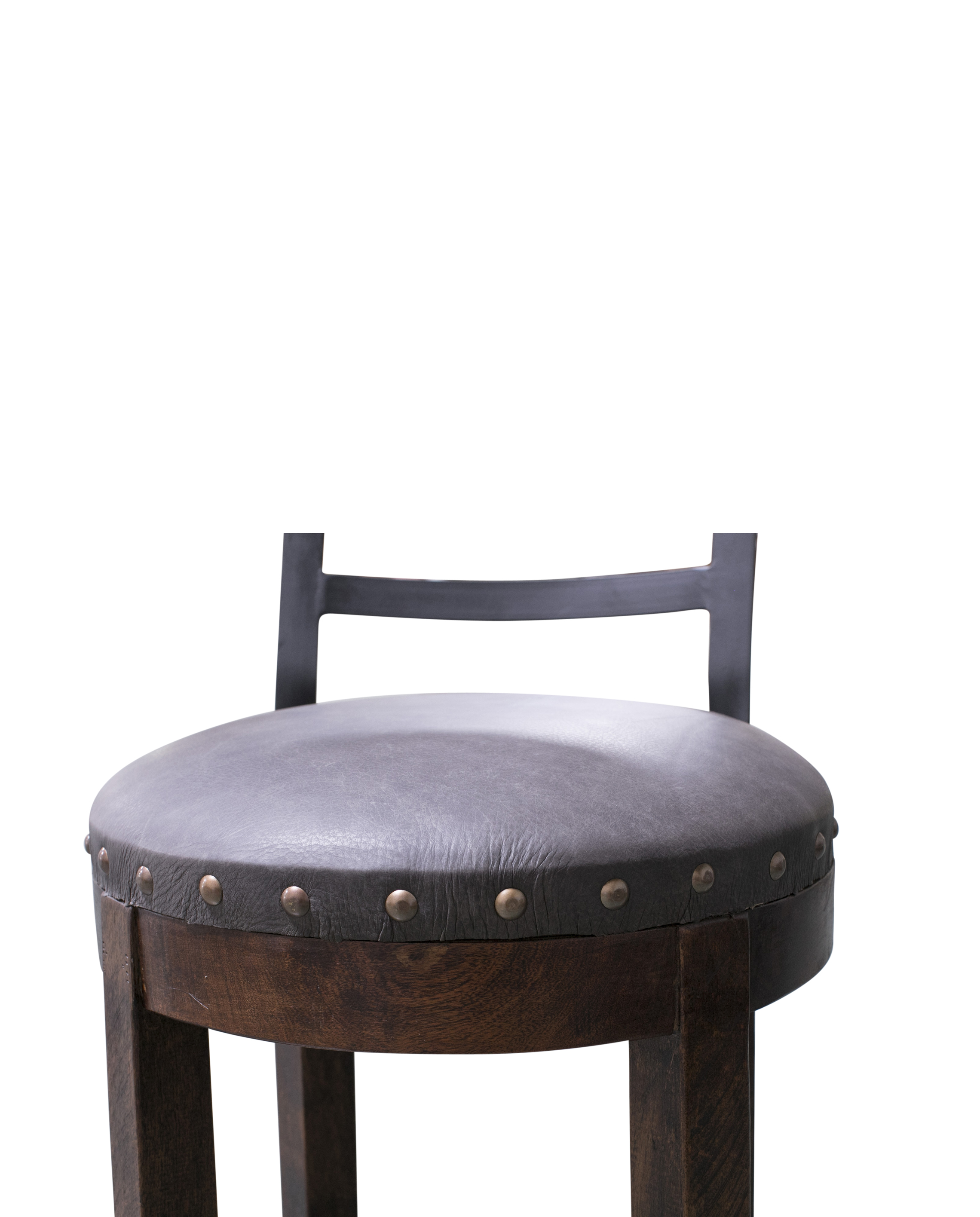leather barstool rustic